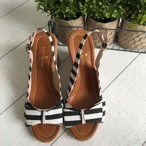 Kate Spade Striped Espadrille wedges✨size 6.5